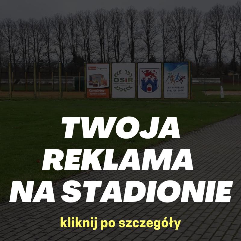 Reklamy na stadionie OSiR w Pyrzycach
